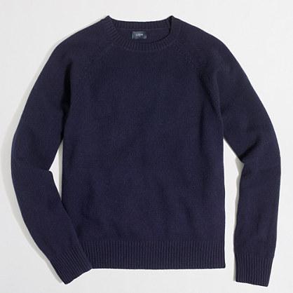 Tall lambswool crewneck sweater