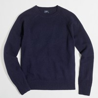 Tall lambswool crewneck sweater