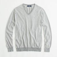 Factory stripe cotton-cashmere v-neck sweater