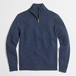 Lambswool half-zip sweater