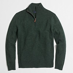 Slim lambswool half-zip pullover sweater
