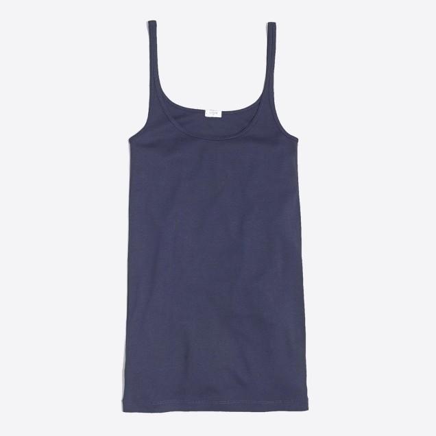 Fine-rib cotton tank top