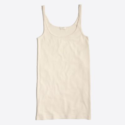 Fine-rib cotton tank top
