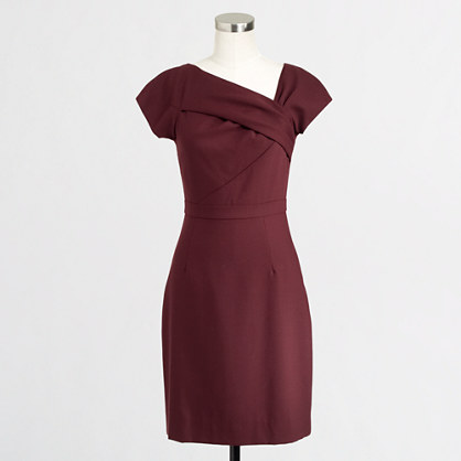 Factory asymmetrical shift dress