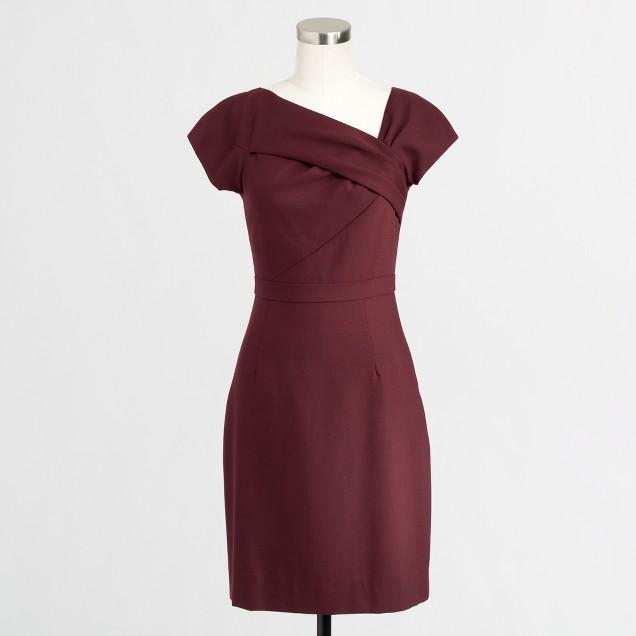 Factory asymmetrical shift dress