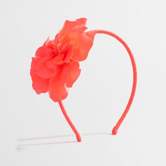 Girls' big flower headband