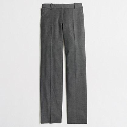 Wool flannel wide-leg trouser