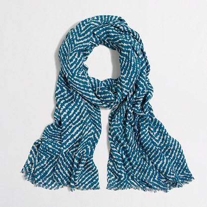 Printed tissue scarf