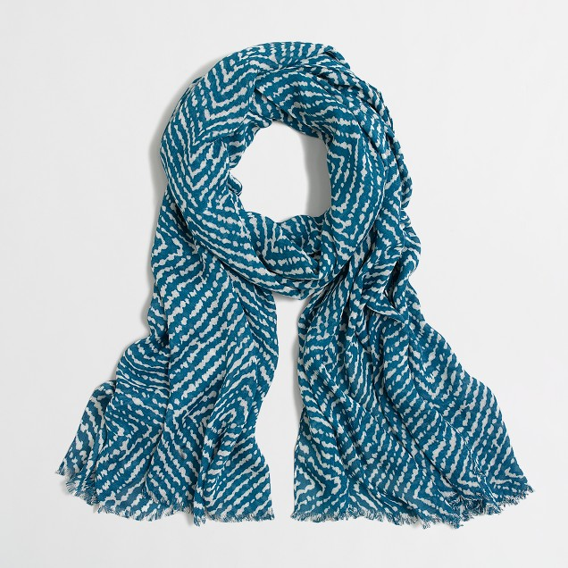 Printed tissue scarf