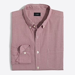 Factory washed shirt in microgingham