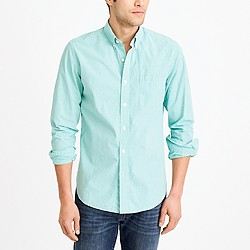 Tall washed shirt in microgingham