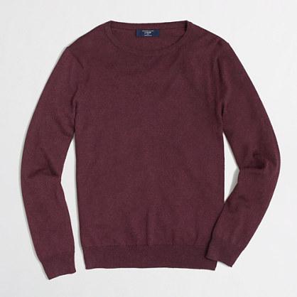 Factory cotton-cashmere crewneck sweater