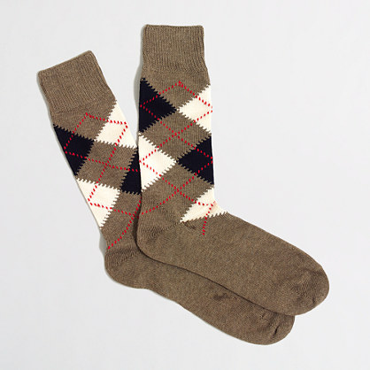 Factory argyle socks