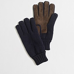 Sueded gloves