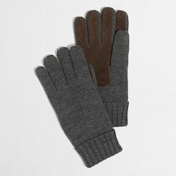 Sueded gloves