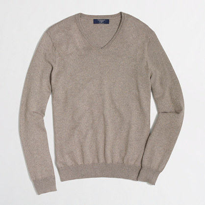 Factory tall cotton-cashmere V-neck sweater