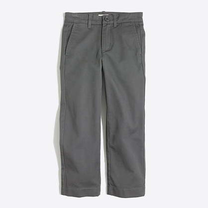 Factory boys' straight chino