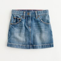 Factory girls' denim mini in authentic vintage wash