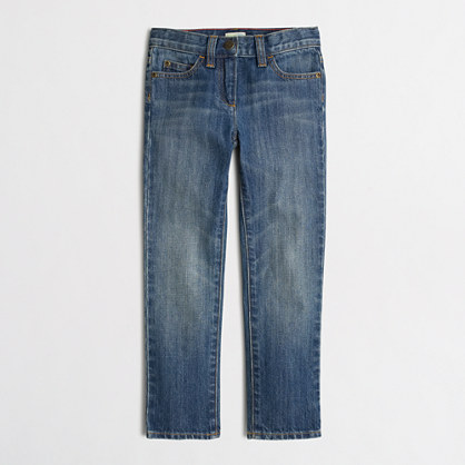 Factory girls' straight and narrow jean