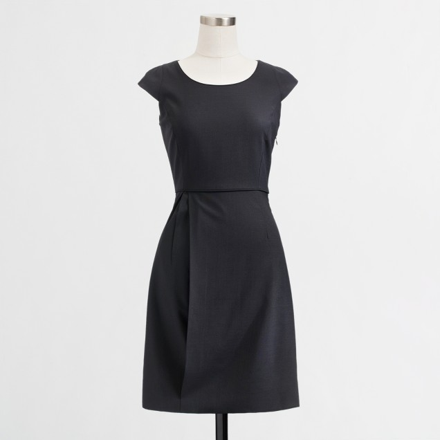 Factory cap-sleeve suiting dress