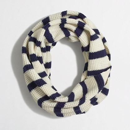 Stripe infinity scarf