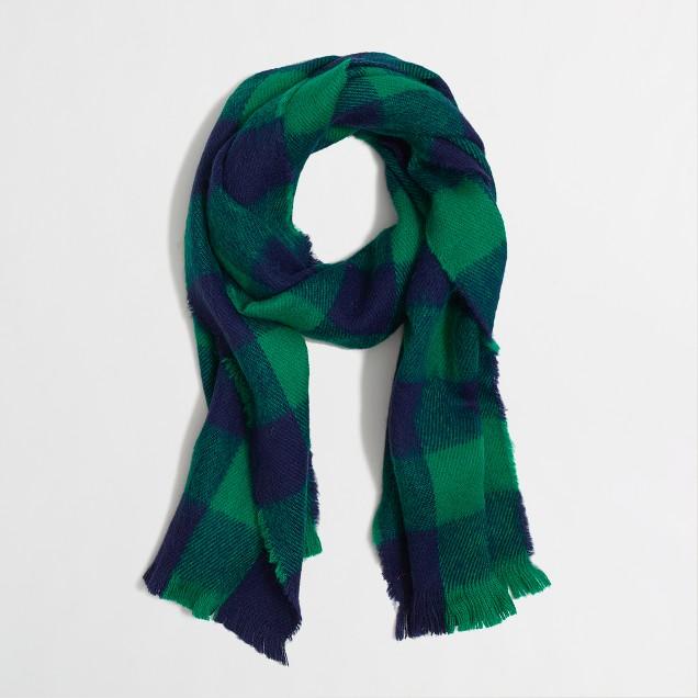 Factory boys' checkered scarf