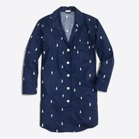 Printed flannel pajama shirt