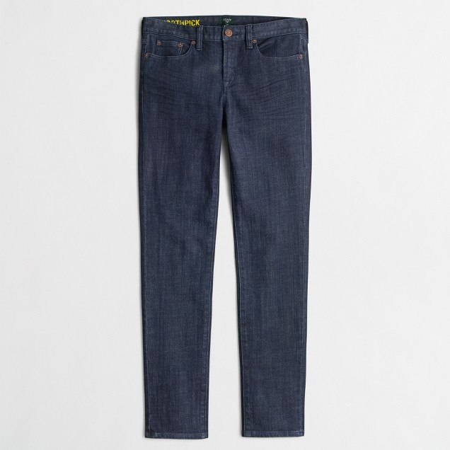 Factory skinny jean in midnight wash