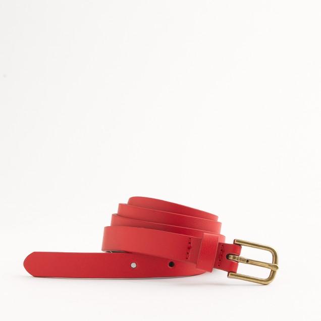 Factory classic skinny belt