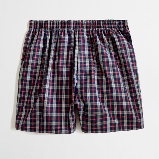 Factory classic plaid boxers