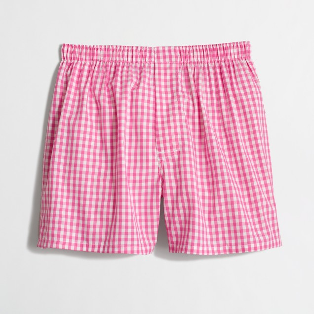 Pink gingham boxers