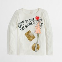 Factory girls' long-sleeve glam traveler keepsake tee