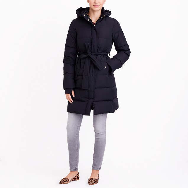 Long Belted Puffer Jacket : Women's Jackets & Coats | J.Crew Factory