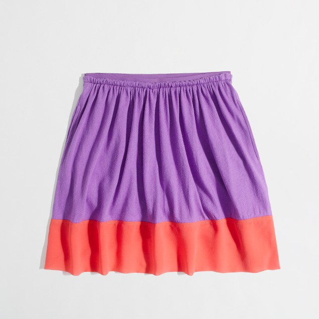 Factory girls' colorblock skirt