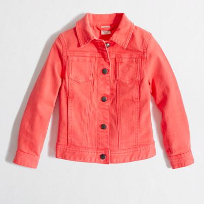 Factory girls' garment-dyed denim jacket