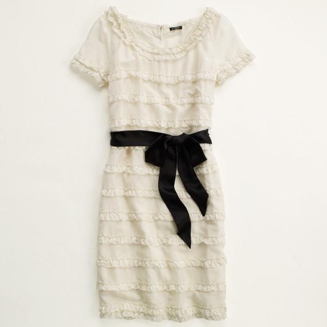 Factory cotton-silk shimmy dress