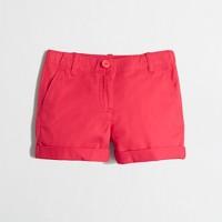 Girls' cuffed chino short