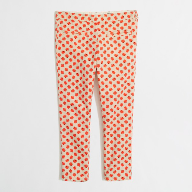 Factory girls' printed skinny jean