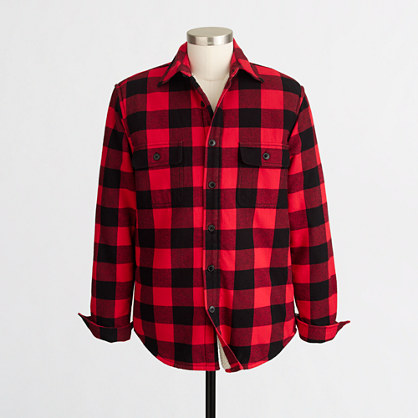 Factory sherpa-lined flannel jacket