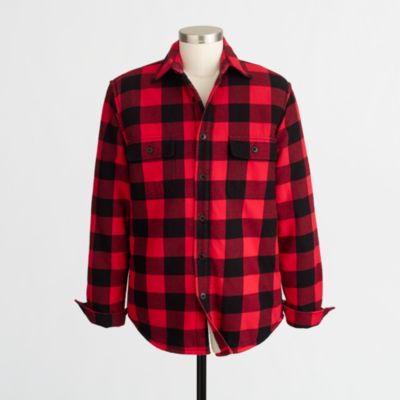 Sherpa-lined flannel jacket   search