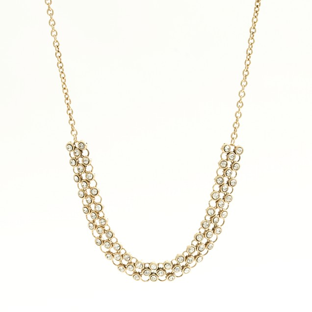 Factory crystal checkerboard necklace