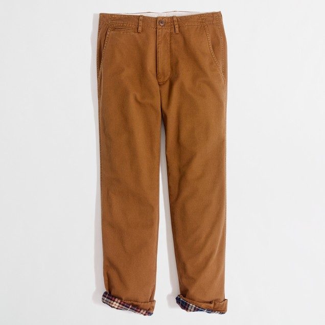 Factory flannel-lined classic broken-in chino