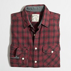 Heathered flannel shirt