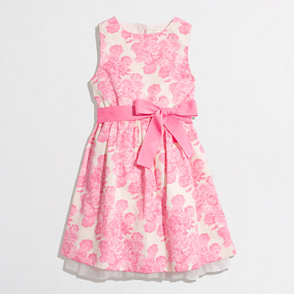Factory girls' polka-dot party dress