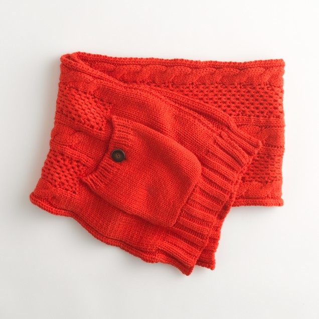 Factory cable pocket scarf