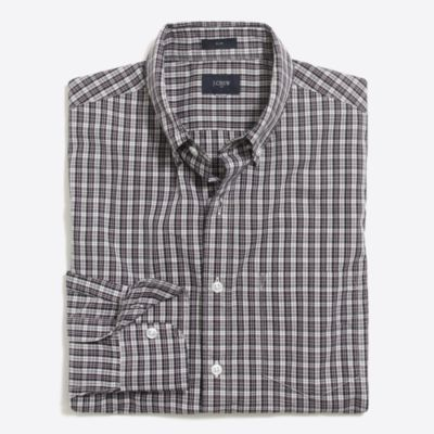 Slim washed shirt in plaid   sale