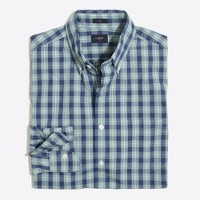 Slim washed shirt in plaid