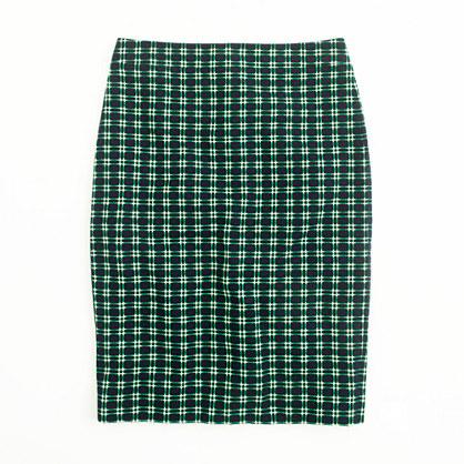 Factory pencil skirt in shrunken plaid