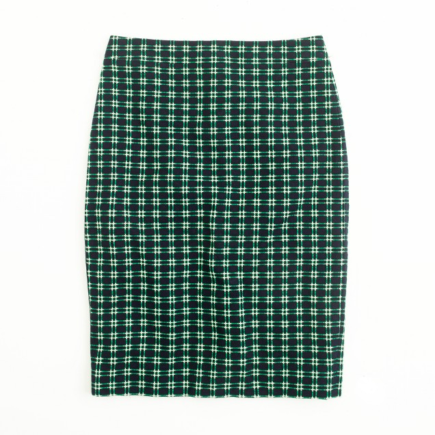 Factory pencil skirt in shrunken plaid