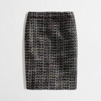 Factory pencil skirt in graphite tweed